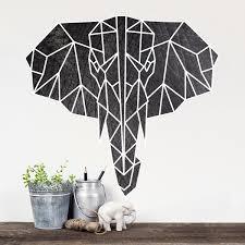 Geometric Elephant Printed Wall Decal
