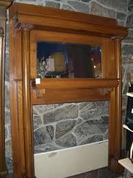 solid oak antique fireplace mantel