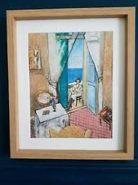 henri matisse interior at nice framed