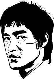 Bruce Lee Wall Sticker Tenstickers