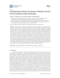 pdf an exploratory study of consumer