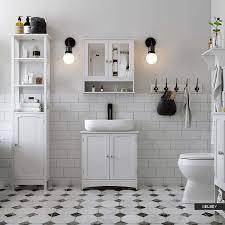 3 shelf white bathroom storage unit