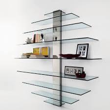 stylish glass shelving unit creative idea