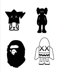 Hype Beast Bape More Bathing Ape Vinyl Decal Sticker 4 Pack Ebay