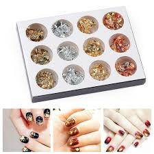 3d Alloy Gold Tips Nail Art Studs Diy Sticker Metal Manicure Decal For Sale Online Ebay