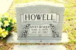 Myra Bender Howell (1895-1987) - Find A Grave Memorial
