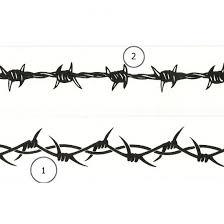 6 Barbed Wire Wrist Band Tattoo