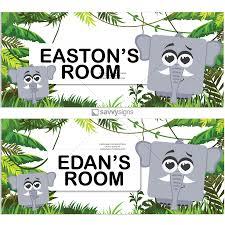 Kids Bedroom Door Sign Cubie Characters In The Jungle