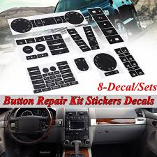 A C Radio Hazard Steering Climate Button Repair Decal Sticker Set For Vw Volkswagen Touareg 2004 2009 Walmart Com Walmart Com