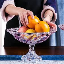 creative glass large fruit bowl