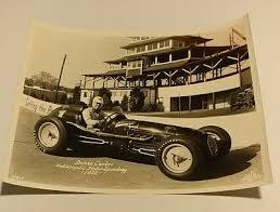 VINTAGE DUANE CARTER Race Car Racing Driver Indianapolis Speedway Photo  Indy 500 - $15.00   PicClick