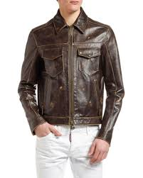 brown leather jacket neiman marcus