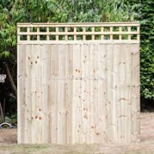 Trellis Top Closed Board Fence Panel Buy Online Uk Delivery