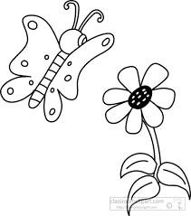 erfly clipart black white