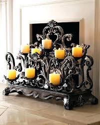 fireplace candle holder 6 in decor