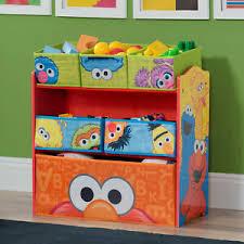 Multi Bin Toy Organizer Storage Kids Bedroom Play Room Toys Shelf Sesame Street 80213018931 Ebay