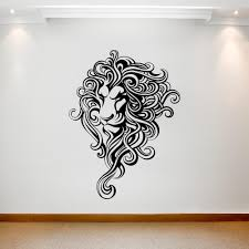 Head Of Lion With Fantastic Mane On The Wall Best Deals With Free Uk Standard Delivery Mizzli