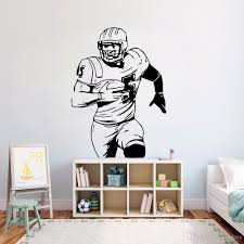 American Football Wall Vinyl Sticker Ball Sport Activity Wall Decal Kids Room Decor Removable Football Player Wall Mural Decor Designs Wall Decals Decor Stickers From Joystickers 11 13 Dhgate Com