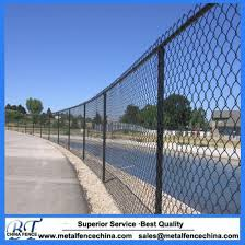 China 2 Mesh X 9 Gauge Vinyl Coated Chain Link Fence Fabric China Security Fence Galvanized Chain Link Fence