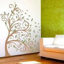 Curly Tree Leaves Birds In The Wind Olive Wall Decal Wall Decal Allposters Com
