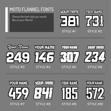custom moto flannel red white coe