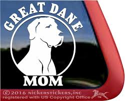 Great Dane Decals Stickers A Nickerstickers