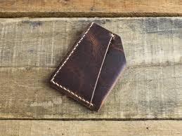 horween brown nut dublin minimalist wallet