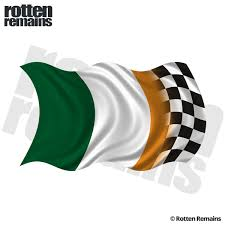 Ireland Racing Checkered Flag Decal Irish Race Car Vinyl Sticker Rh Rotten Remains High Quality Stickers Decals