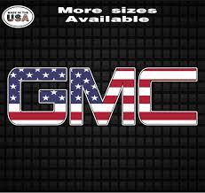 Gmc American Flag Vinyl Decal Sticker Gmc Truck Decals Truck Window Stickers Country Boy Customs Store