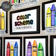 Color Scheme Family Portrait Posters Art Room Decor Resources Art Classroom Decor Elementary Art Rooms Elementary Art