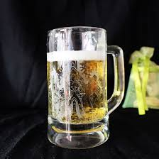 personalized engraved glass beer mug