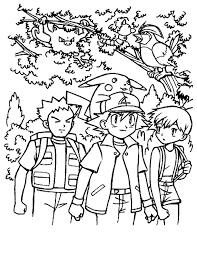 Kleuren Nu Pokemon In Het Bos Kleurplaten