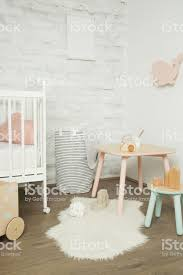 Nicely Decorated Kids Room In Pastel Colors Wooden Toys Furniture And Blank White Poster On The Wall Stock Photo Download Image Now Istock