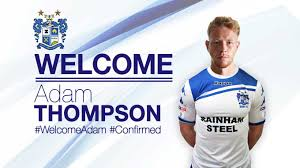 CONFIRMED: Adam Thompson signs for the Shakers | News | Bury ...