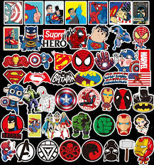 Car Vinyl Stickers Luggage Computer Spiderman Marvel Skateboard