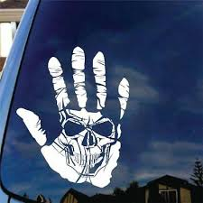 Skull Hand Vinyl Decal Sticker Car Truck Funny Goth Jerry Death Evil Death Metal 4 99 Picclick