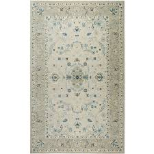 shabbychic oriental ivory blue area rug