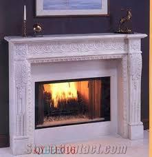 stone marble fireplace mantel