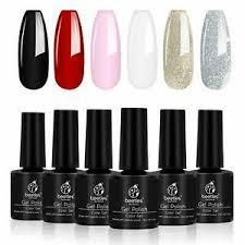 gel nail polish set glitter soak off
