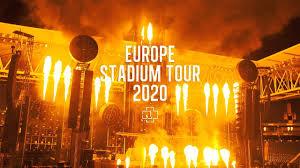 rammstein tour dates 2020 stadium