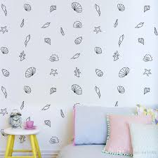 Creative Set Cartoon Seaside Shell Wall Sticker Mural Furniture Cabinets Vinyl Decal Kid Baby Room Diy Home Decor Sofa Background Airplane Wall Decals Airplane Wall Stickers From Qiansuning666 36 89 Dhgate Com