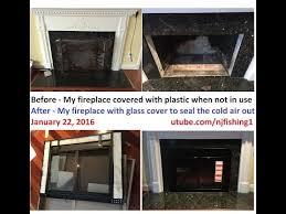 fireplace glass door pleasant hearth