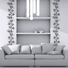 Wall Pops 78 8 In X 11 9 In Grey Climbing Plant Border Decal Cr 53011 The Home Depot
