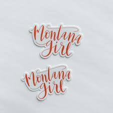 Montana Girl Hand Lettered Bright Coral Sticker Decal Shop Sticker Decals And Stationery Online
