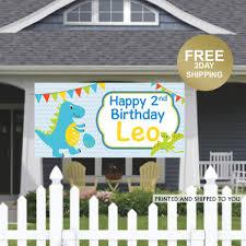 Dinosaur Birthday Banner Birthday Banner Kids Birthday Banner Lawn Banner Party Banner Decorations Birthday Yard Sign Dino Banner