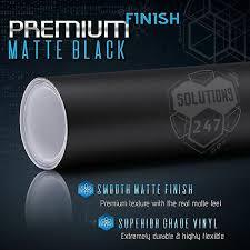 60 X 96 In Matte Flat Black Vinyl Car Wrap Film Decal Bubble Free Air Release Ebay