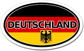Amazon Com Germany Deutschland Flag Car Bumper Sticker Decal Oval Arts Crafts Sewing
