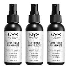nyx professional makeup dewy setting