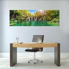 Waterfall Lake Panoramic Wall Sticker Mural Decal Room Hallway Office Decor Bc2 Ebay