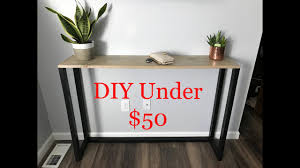 diy tutorial console bar table sofa
